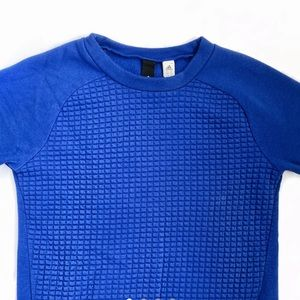 Adidas - Blue Quilted Jumper